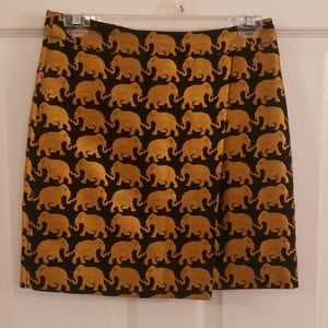 J.Crew Elephant Embroidered Skirt - like new!